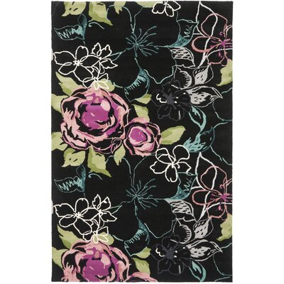 Somerdale Black/Multi Rug Rug Size: 4 x 6