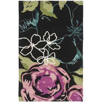 Somerdale Black/Multi Rug Rug Size: Rectangle 26 x 4
