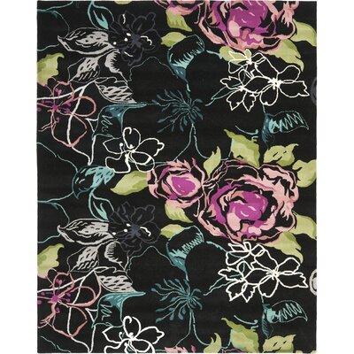 Somerdale Black/Multi Rug Rug Size: Rectangle 8 x 10