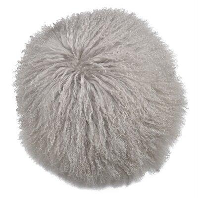 Faulkner Lamb Fur Throw Pillow Color: Gray