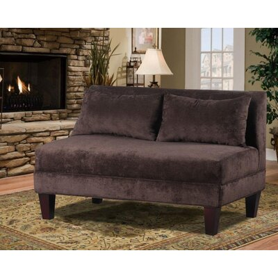 Boyd Armless Loveseat Upholstery: Asia Chocolate