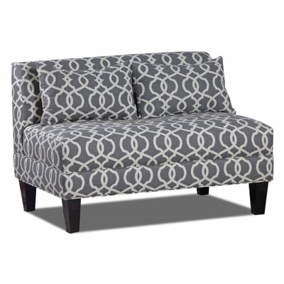 Boyd Armless Loveseat Upholstery: Emory Pewter