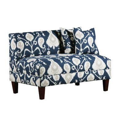 Boyd Armless Loveseat Upholstery: Java Navy