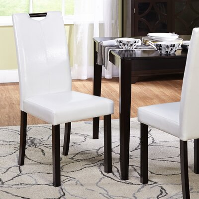 Cox Side Chair Upholstery: White