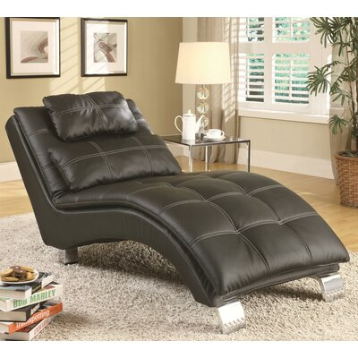 Baize Chaise Lounge Upholstery: Black