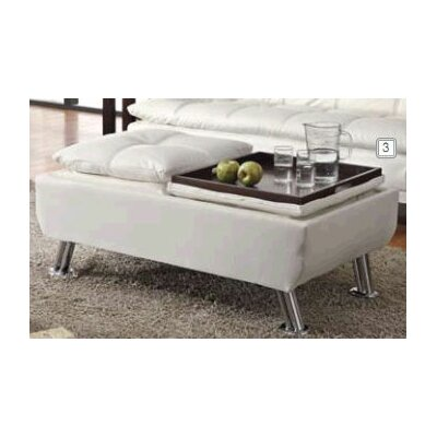 Baize Ottoman Upholstery: White