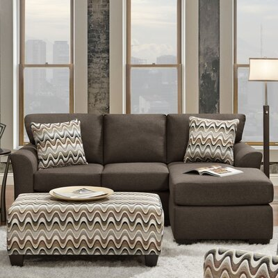 Mueller Reversible Sectional Upholstery: Cocoa