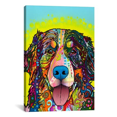 'Burnese Mountain Dog' by Dean Russo Graphic Art on Canvas Size: 12