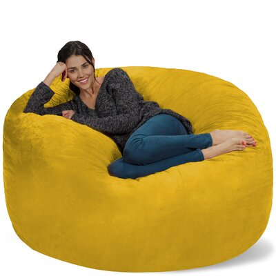 Micro Suede Bean Bag Sofa Upholstery: Lemon