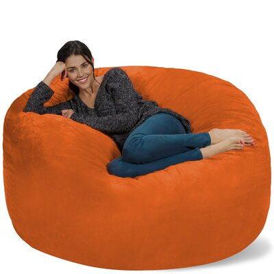 Micro Suede Bean Bag Sofa Upholstery: Orange