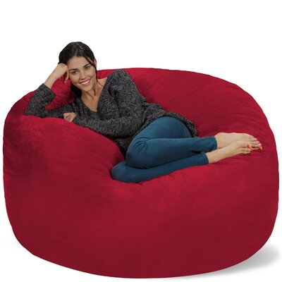 Micro Suede Bean Bag Sofa Upholstery: Cinnabar