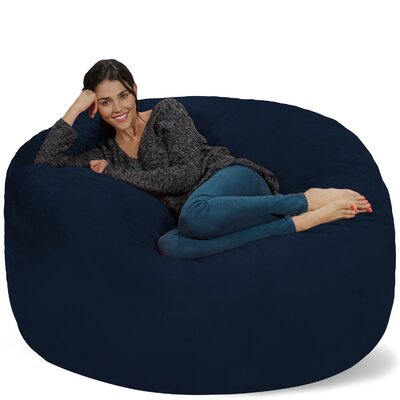 Micro Suede Bean Bag Sofa Upholstery: Navy