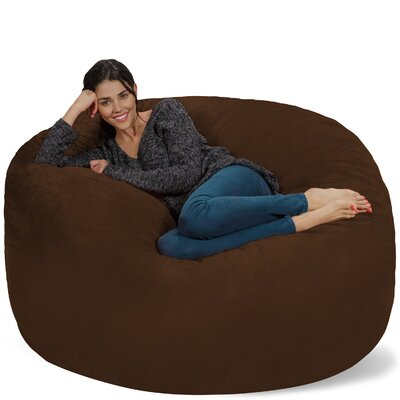 Micro Suede Bean Bag Sofa Upholstery: Chocolate