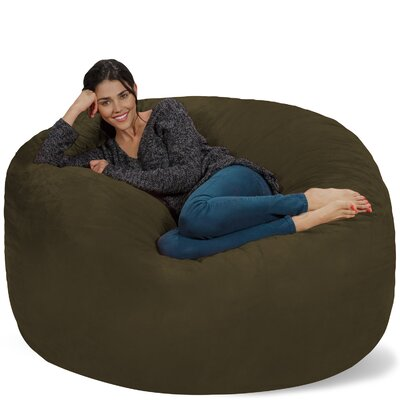 Micro Suede Bean Bag Sofa Upholstery: Olive