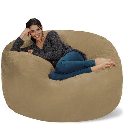 Micro Suede Bean Bag Sofa Upholstery: Camel
