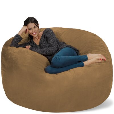 Micro Suede Bean Bag Sofa Upholstery: Earth