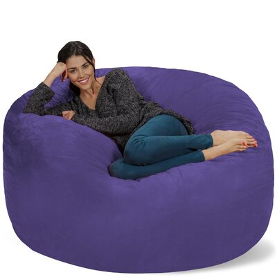 Micro Suede Bean Bag Sofa Upholstery: Purple