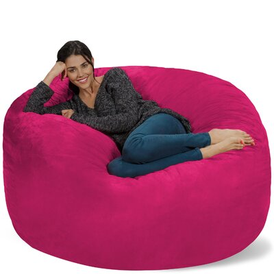 Micro Suede Bean Bag Sofa Upholstery: Pink