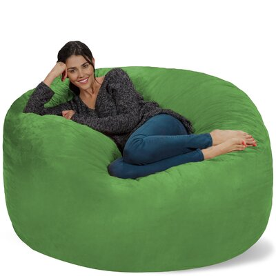 Micro Suede Bean Bag Sofa Upholstery: Lime