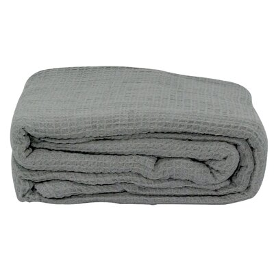Hampden All-Season Thermal Cotton Blanket Size: Twin, Color: Gray
