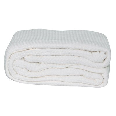 Hampden All-Season Thermal Cotton Blanket Color: White, Size: King