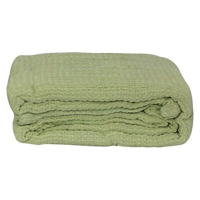 Hampden All-Season Thermal Cotton Blanket Color: Sage, Size: King