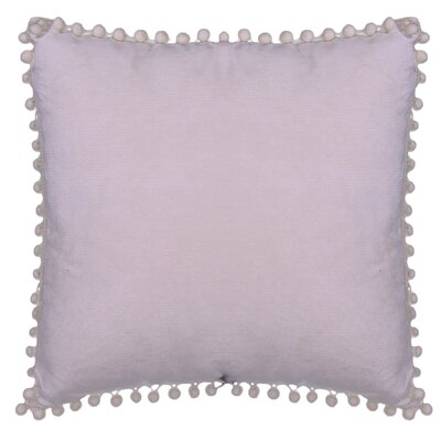 Hancock Pompom Throw Pillow Color: Lilac
