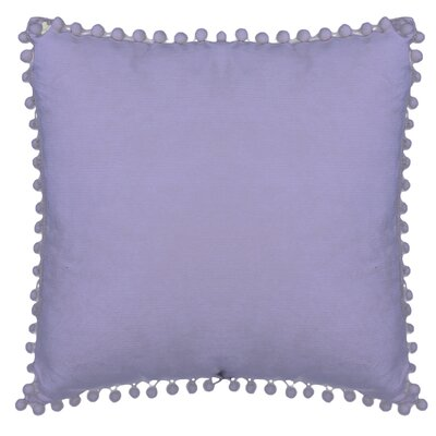 Aella Pompom Throw Pillow Color: Lavender