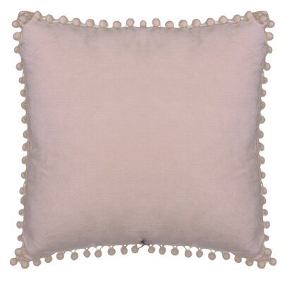 Aella Pompom Throw Pillow Color: Pink
