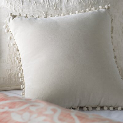 Aella Pompom Throw Pillow Color: Beige