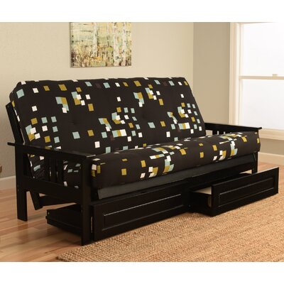 Ronning Modern Blocks Wood Frame Futon and Mattress