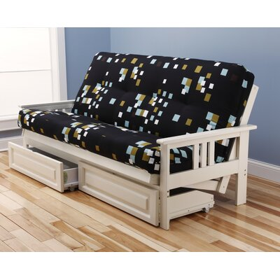Latitude Run LATT5087 Hardwick Modern Blocks Futon and Mattress