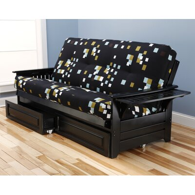 Harwich Modern Blocks Futon and Mattress Frame Finish: Black