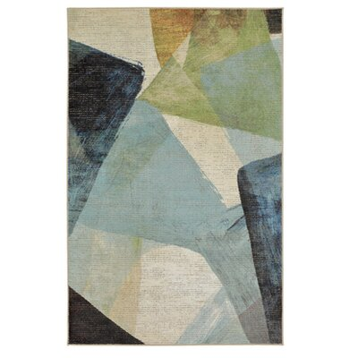 Antilles Transparent Blue/Gray Area Rug Rug Size: 76 x 10