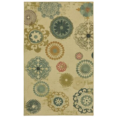 Antilles Cream/Teal Area Rug Rug Size: 8 x 10