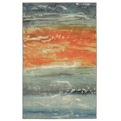 Antilles Seascape Blue/Orange Area Rug Rug Size: 5 x 8
