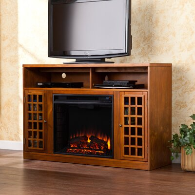 Hawley TV Stand with Electric Fireplace Finish: Glazed Pine