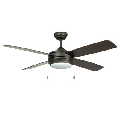 52 Moriarty 4 Blade Ceiling Fan Finish: Espresso with Espresso/Dark Walnut Blades, Glass Type: Opal Frost