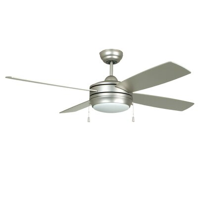 Hingham 44 4 Blade Ceiling Fan Finish: Brushed Pewter with Matte Silver/Maple Blades