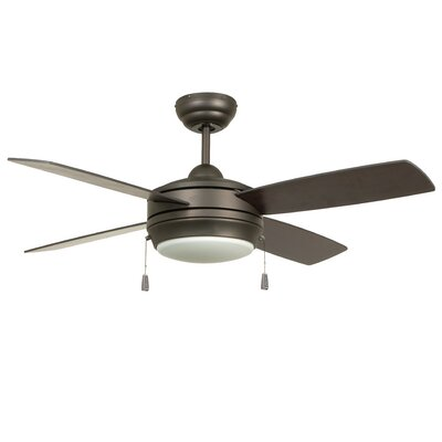 Moriarty 44 4 Blade Ceiling Fan Finish: Espresso with Espresso/Dark Walnut Blades