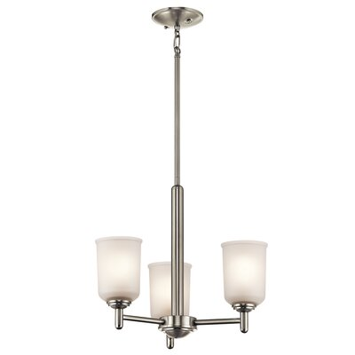 Hopedale 3-Light Mini Pendant Finish: Brushed Nickel