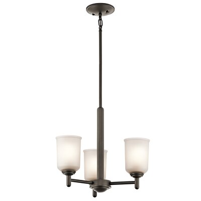 Hopedale 3-Light Mini Pendant Finish: Olde Bronze