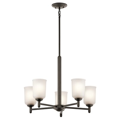 Hopedale 5-Light Shaded Chandelier Finish: Olde Bronze
