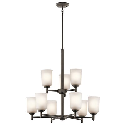 Hopedale 9-Light Shaded Chandelier Finish: Olde Bronze
