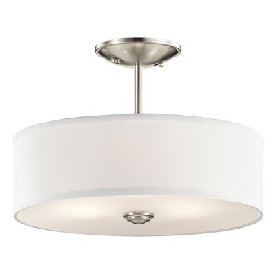 Hopedale 1-Light Semi Flush Mount Finish: Brushed Nickel