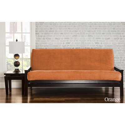 Brooks Box Cushion Sofa Slipcover Upholstery: Orange
