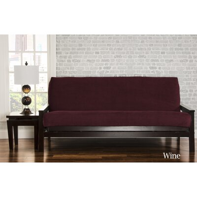 Brooks Box Cushion Sofa Slipcover Upholstery: Wine