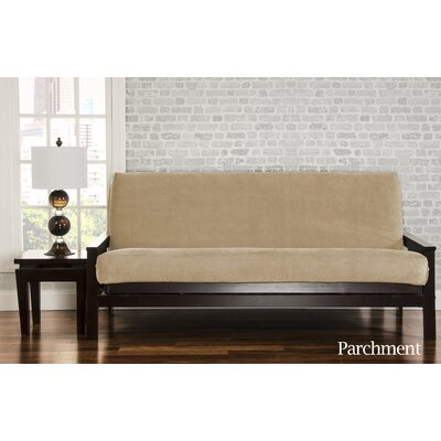 Brooks Box Cushion Sofa Slipcover Upholstery: Parchment