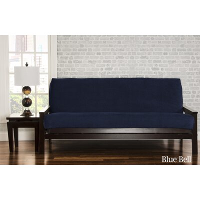Brooks Box Cushion Sofa Slipcover Upholstery: Blue