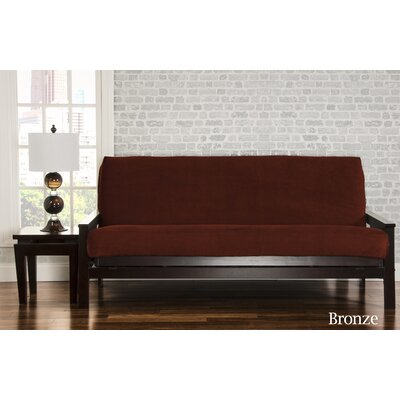 Brooks Box Cushion Sofa Slipcover Upholstery: Bronze